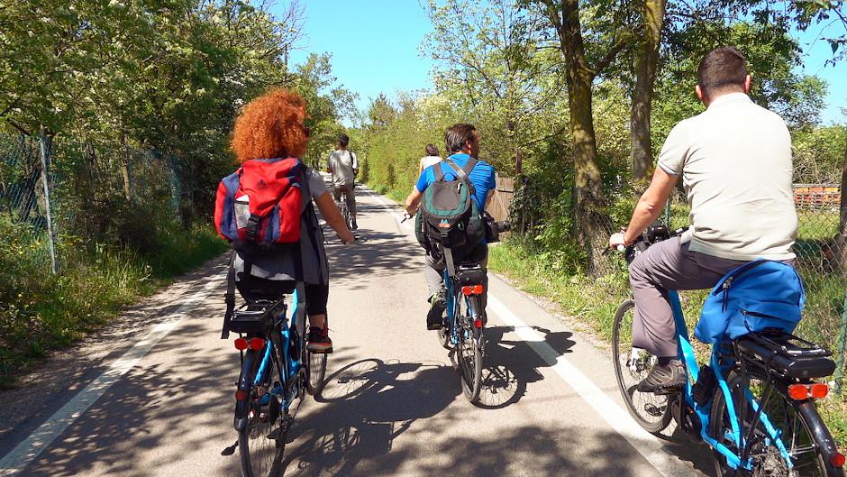 percorso bici colli euganei