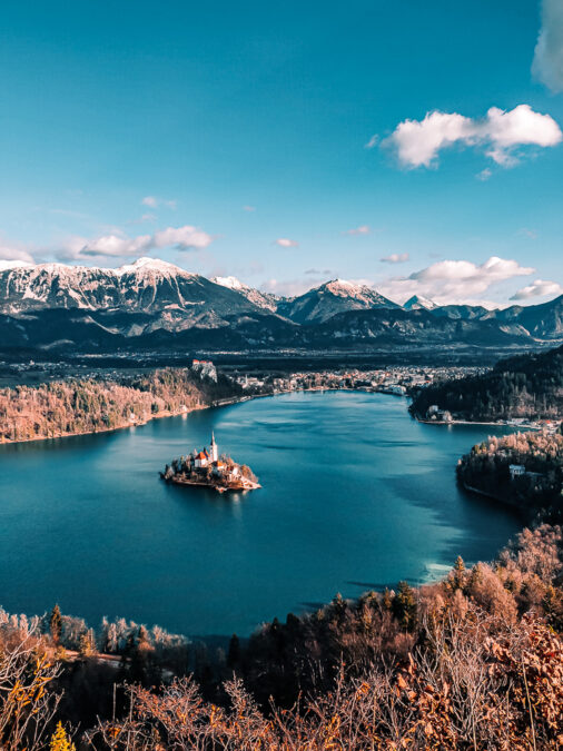 panorama da mala osojnica sul lago di bled slovenia