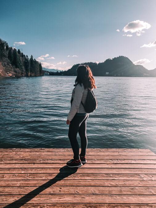 passeggiata al lago di bled slovenia